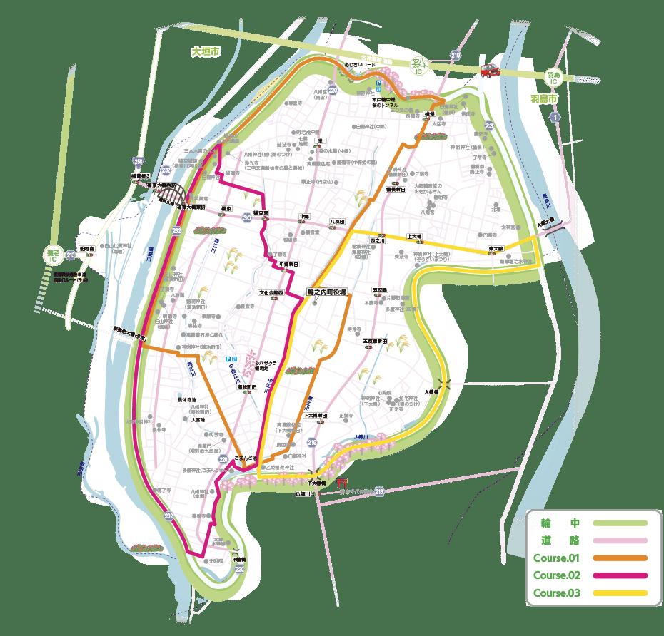 輪之内町文化財-地図
